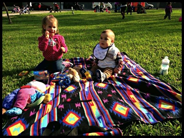 Lindos en el sol sobre Baby Blanket!