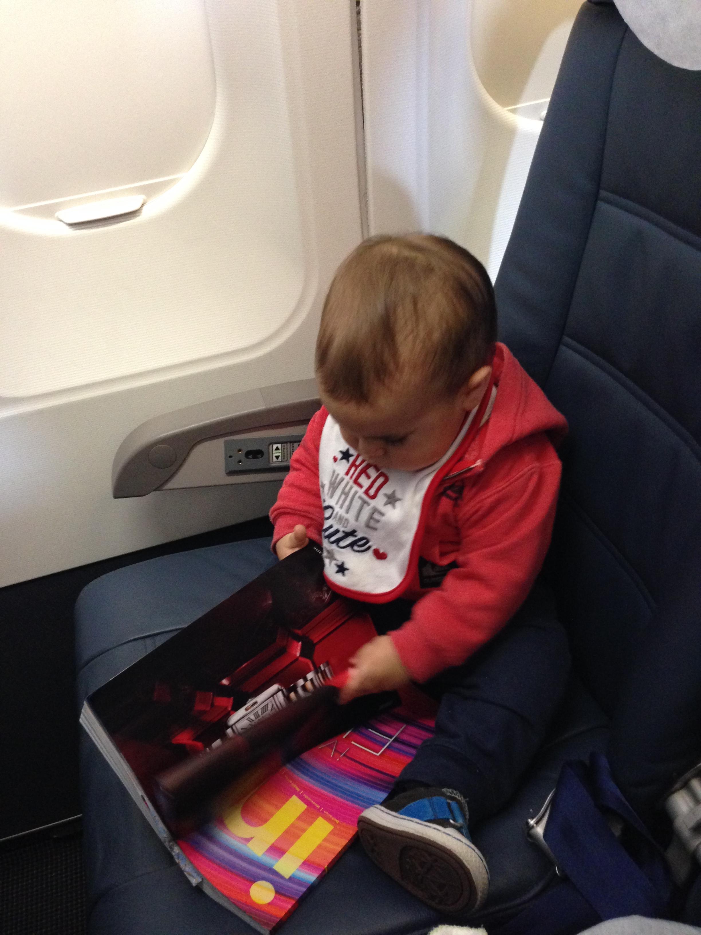 Relajando en el avión...