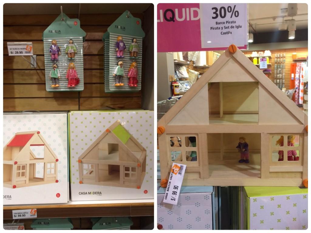 Casa de madera, con miembros de la familia y muebles para jugar lo que su imaginación diga ;)